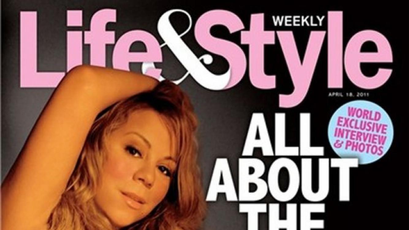 Mariah Carey también se animó a mostrar su embarazo (Foto: Web)