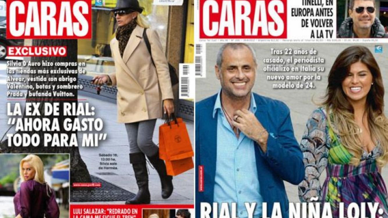 La tapa de la ex de Jorge Rial saliendo de Hermes. ¿Devolución de gentilezas por la portada de Rial con Loly? (Fotos: Caras)