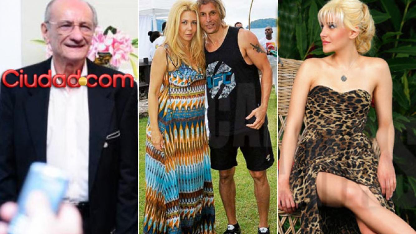 Izquierda: Hugo Caniggia, padre de Claudio. Centro: Nannis y Caniggia. Der: Charlotte Caniggia. (Fotos: Web y Caras)