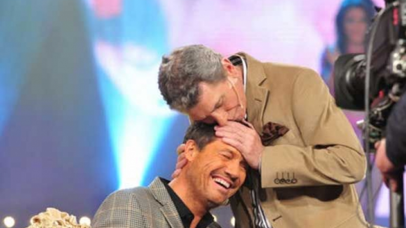 Marcelo Tinelli y su maestro, Juan Alberto Badía. (Foto: Web)