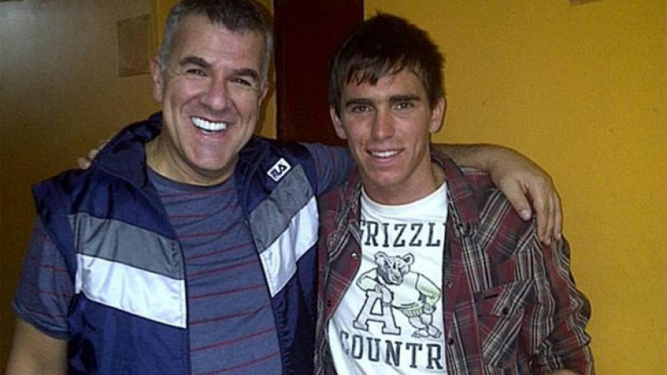 Pablo Mouche junto a Dady Brieva en el teatro Astral, donde presenciaron Dadyman. (Foto: prensa Dadyman)