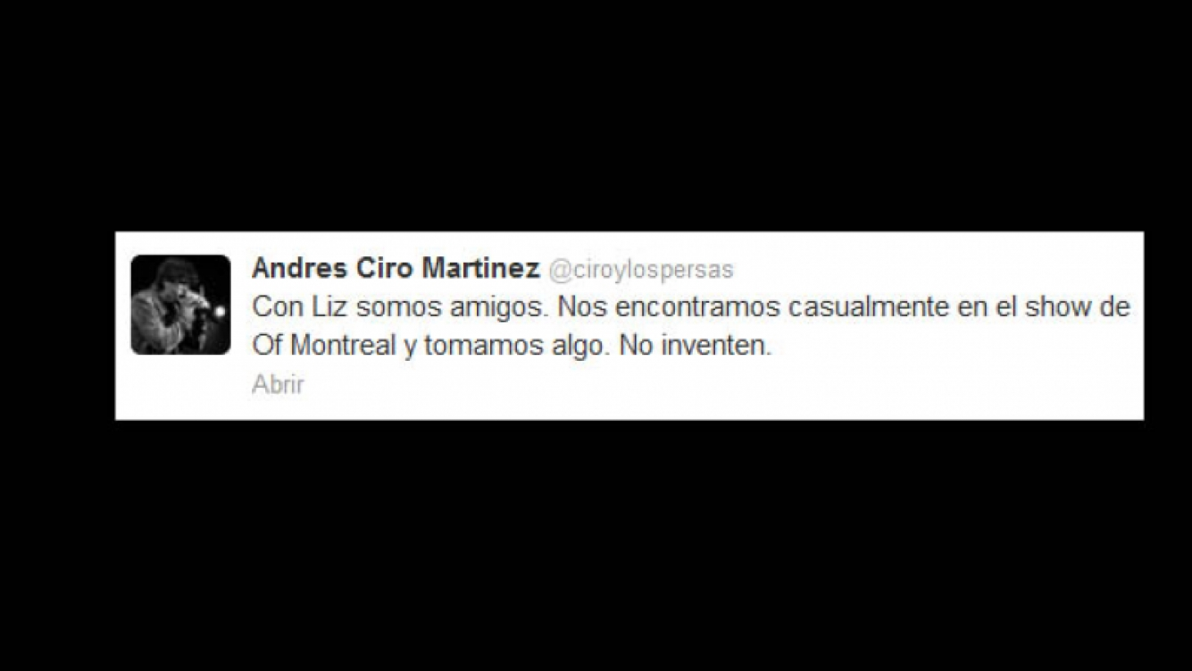 Ciro Martínez negó las versiones de romance con Liz Solari en Twitter