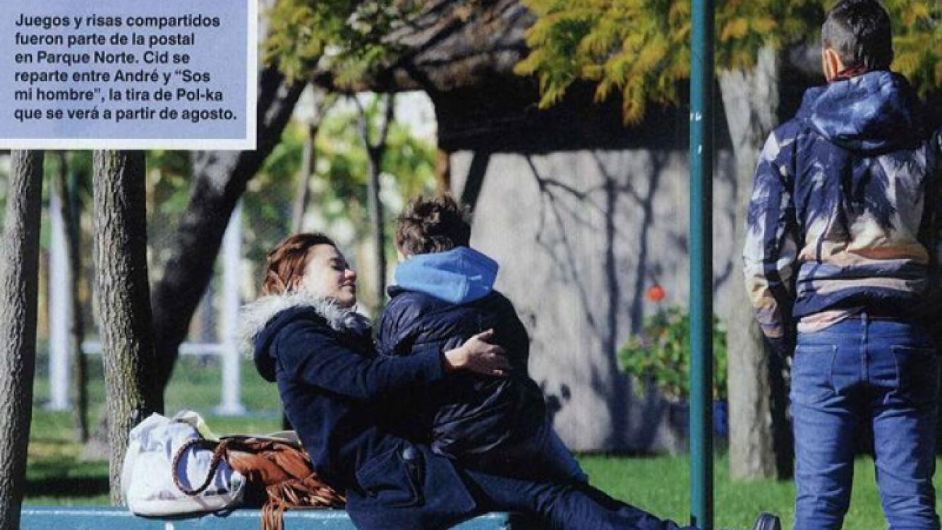 Celeste Cid y Emmanuel Horvilleur, unidos por el amor de André. (Foto: Caras)