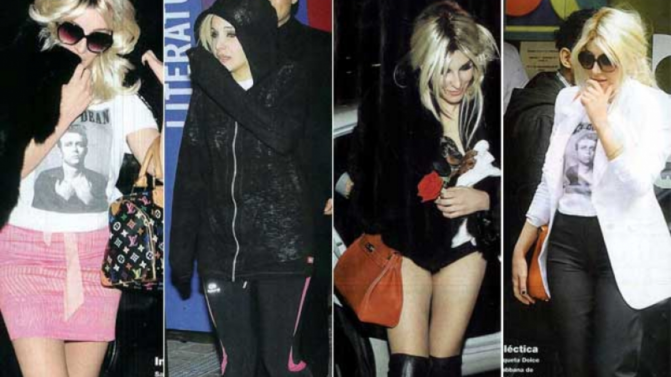 Charlotte Caniggia y sus distintos looks. (Fotos: revista Gente)