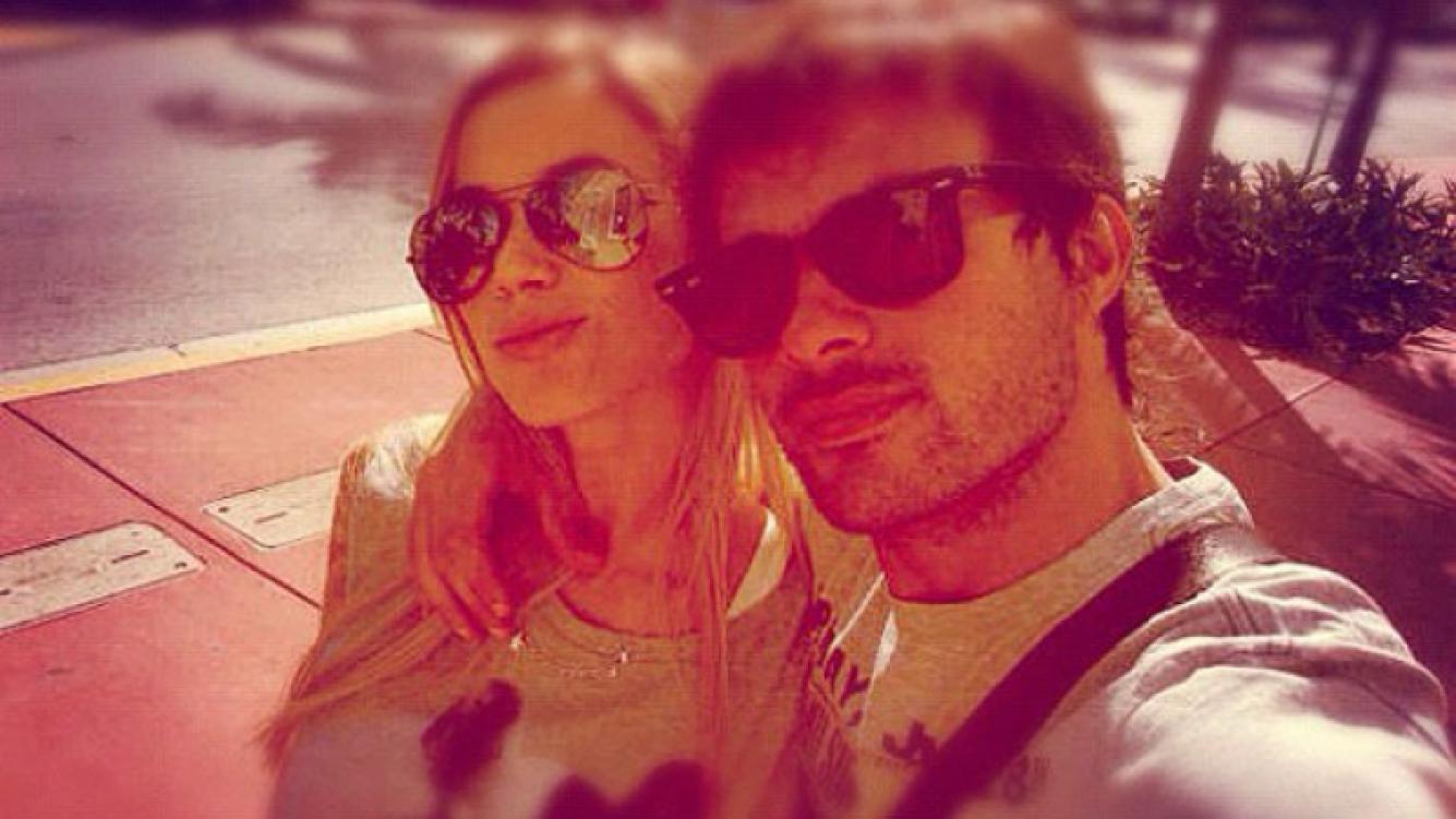 Chechu Bonelli y Darío Cvitanich, enamorados en Holanda (Foto: Twitter).