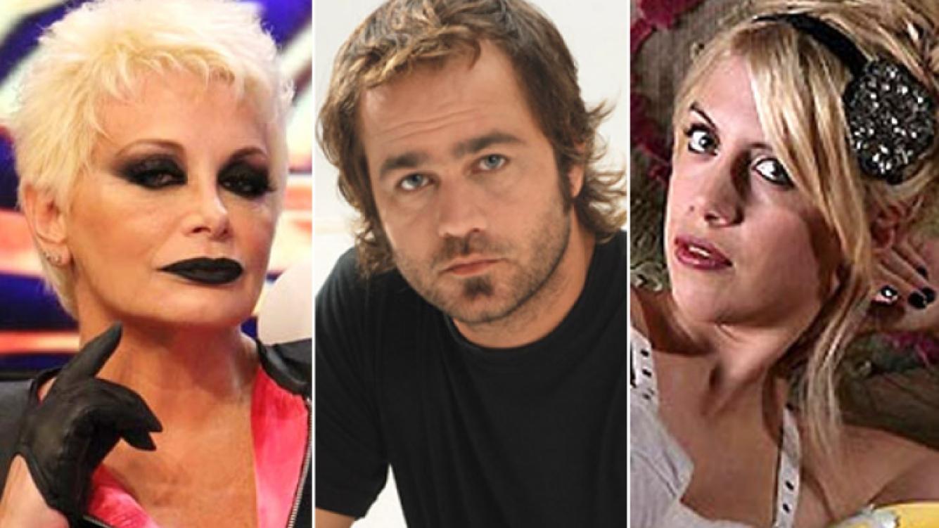 Carmen Barbieri, Gastón Pauls y Wanda Nara. (Fotos: Ideas del Sur y Web)