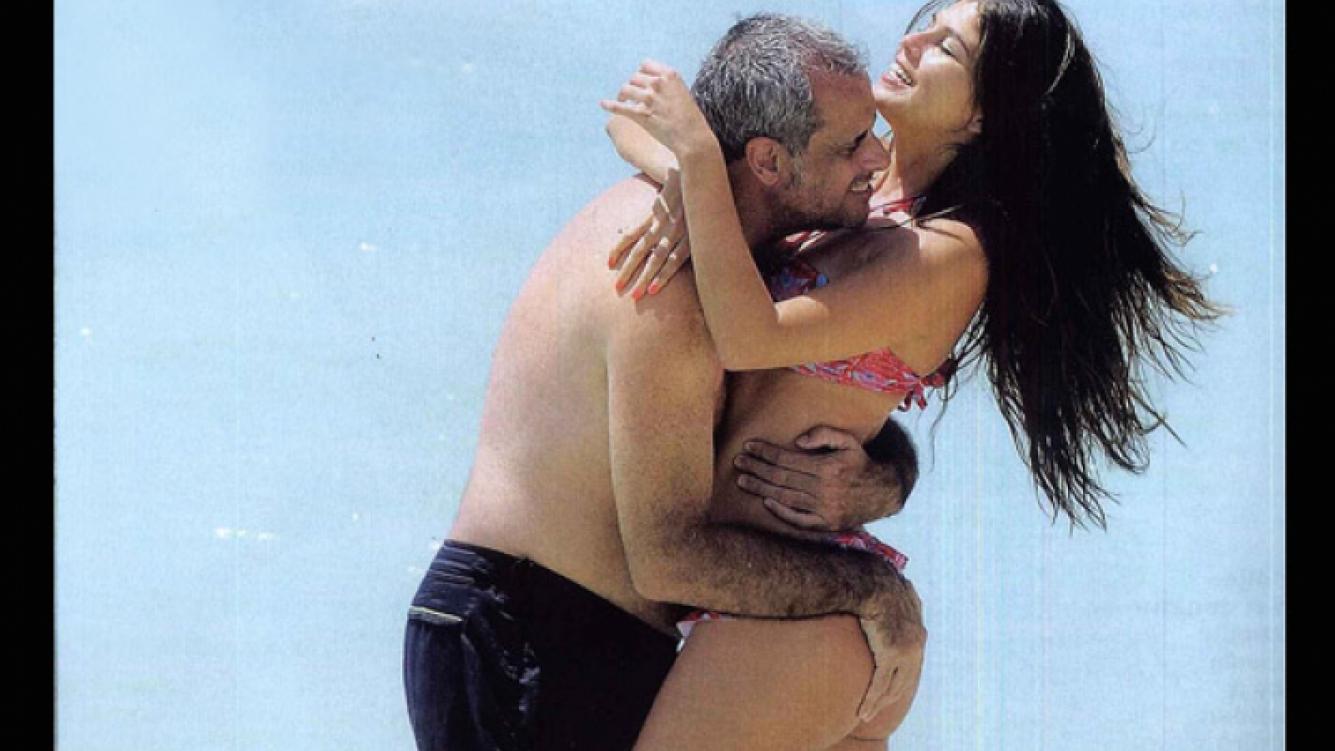 Rial y La Niña Loly, amor en Aruba. (Foto: revista Gente)