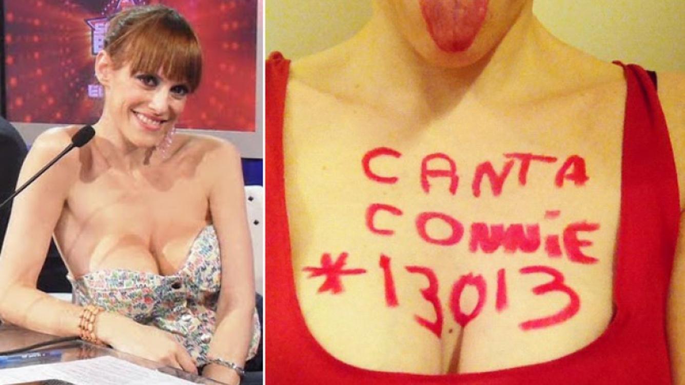 """Connie Ansaldi y su """"osada"""" manera de buscar votos para Cantando 2012. (Fotos: Web y @connieansaldi)"""