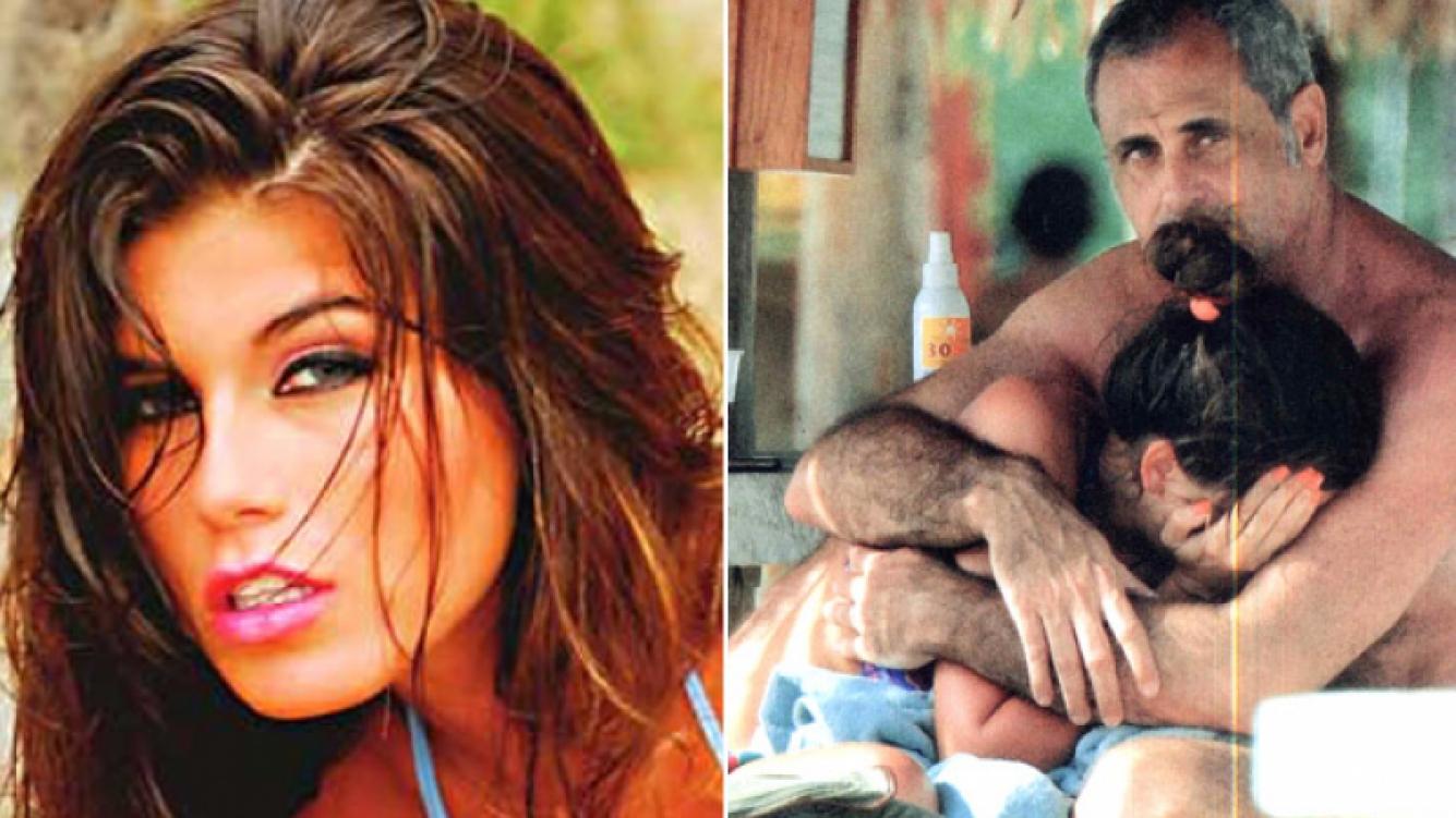 Loly había llorado durante sus vacaciones con Rial en Aruba, al enterarse de la internación de su padre. (Fotos: Web y Caras)