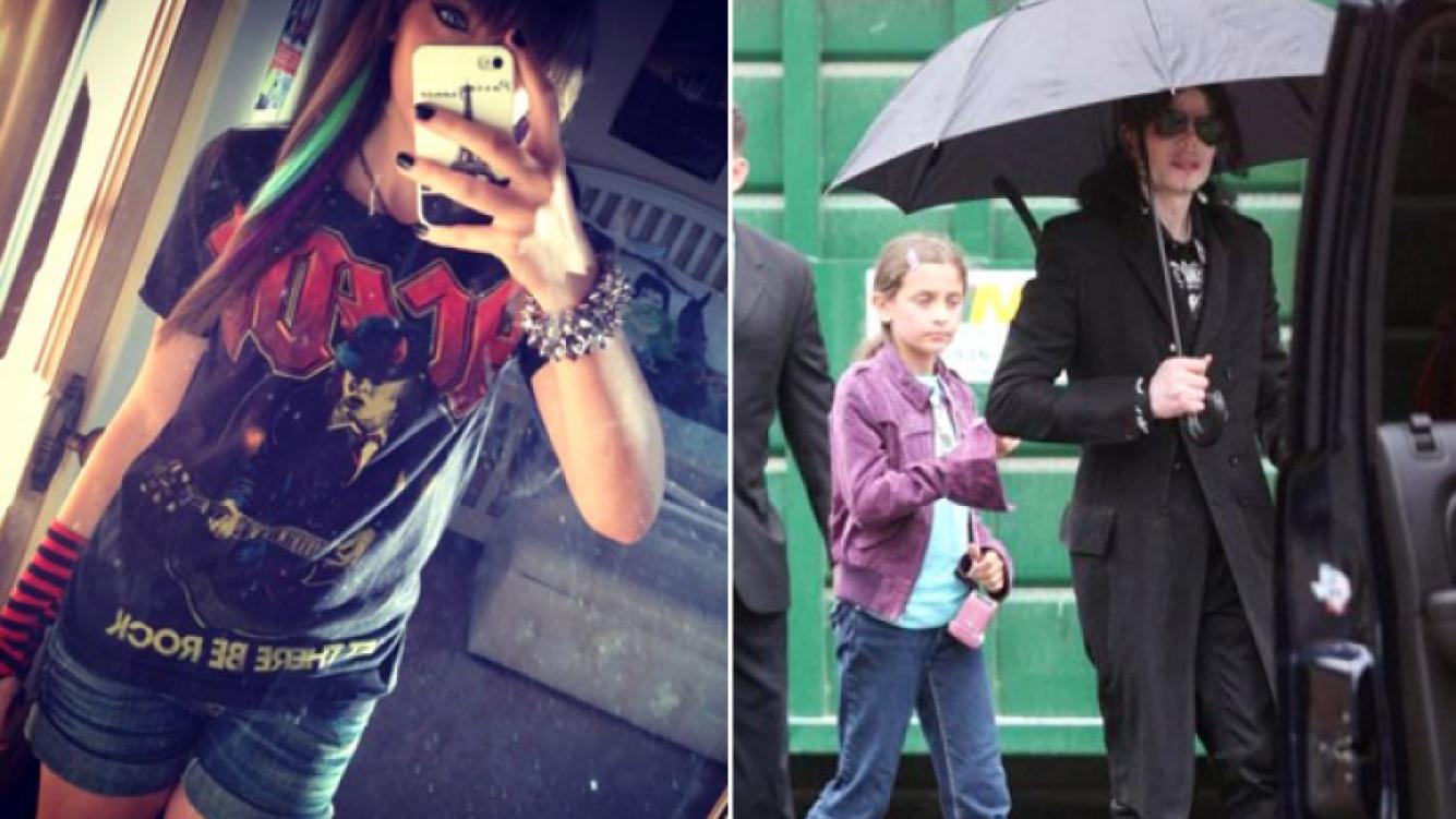 Izquierda: el avatar de Paris Jackson en Twitter. Derecha: junto a su padre, Michael. (Fotos: @ParisJackson y Web)