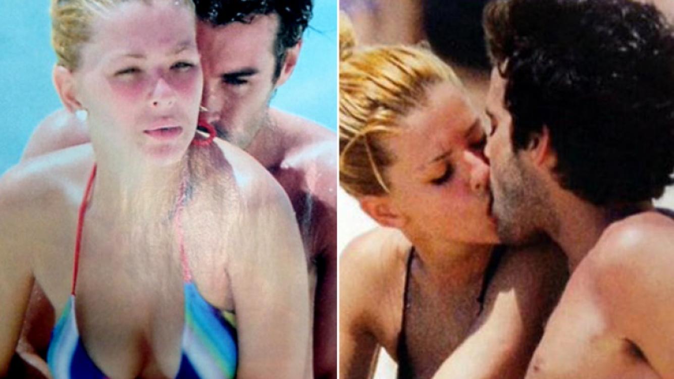 Eugenia Suárez y Nicolás Cabré, enamorados en la playa (Foto: Web)