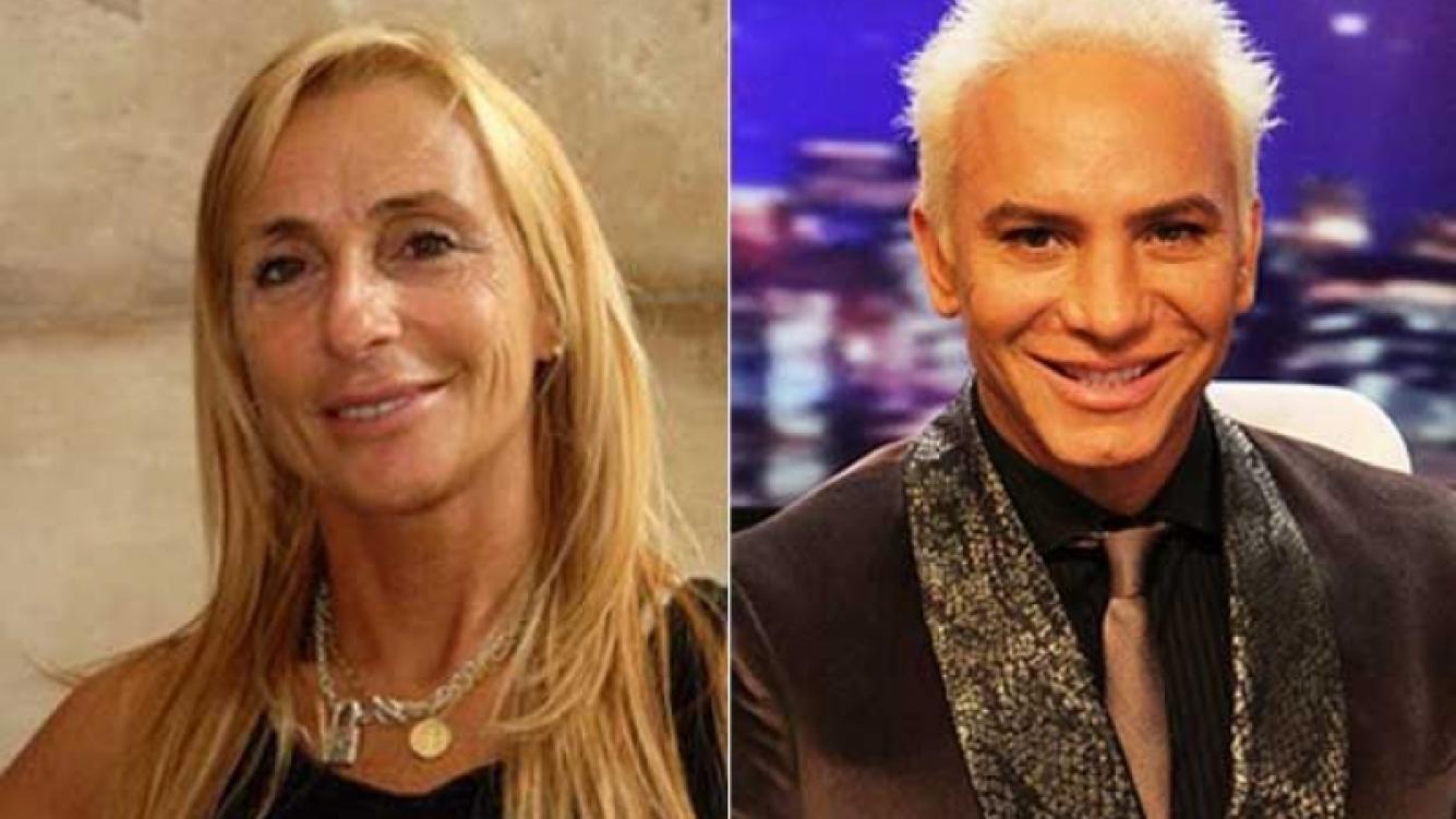 La pelea mediática de Gladys Florimonte y Flavio Mendoza. (Fotos: Web e Ideas del Sur)