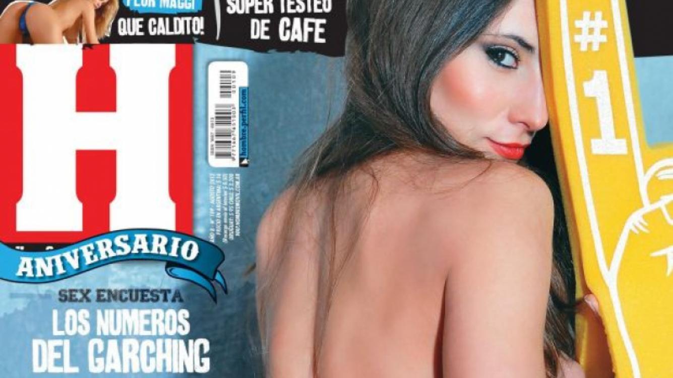 Magui Bravi, en una sensual producción de fotos para la revista Hombre.