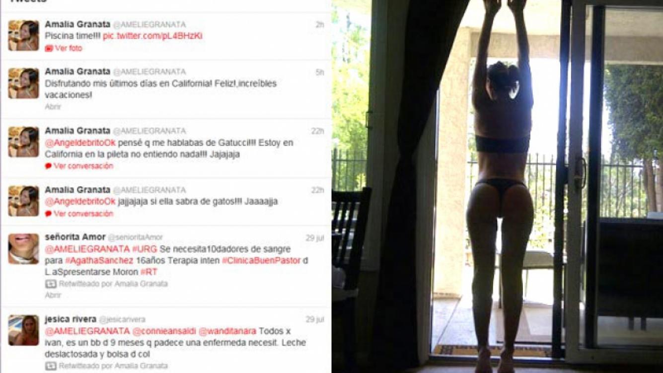 Amalia Granata y su foto hot en Twitter: (Foto: @AmelieGranata)