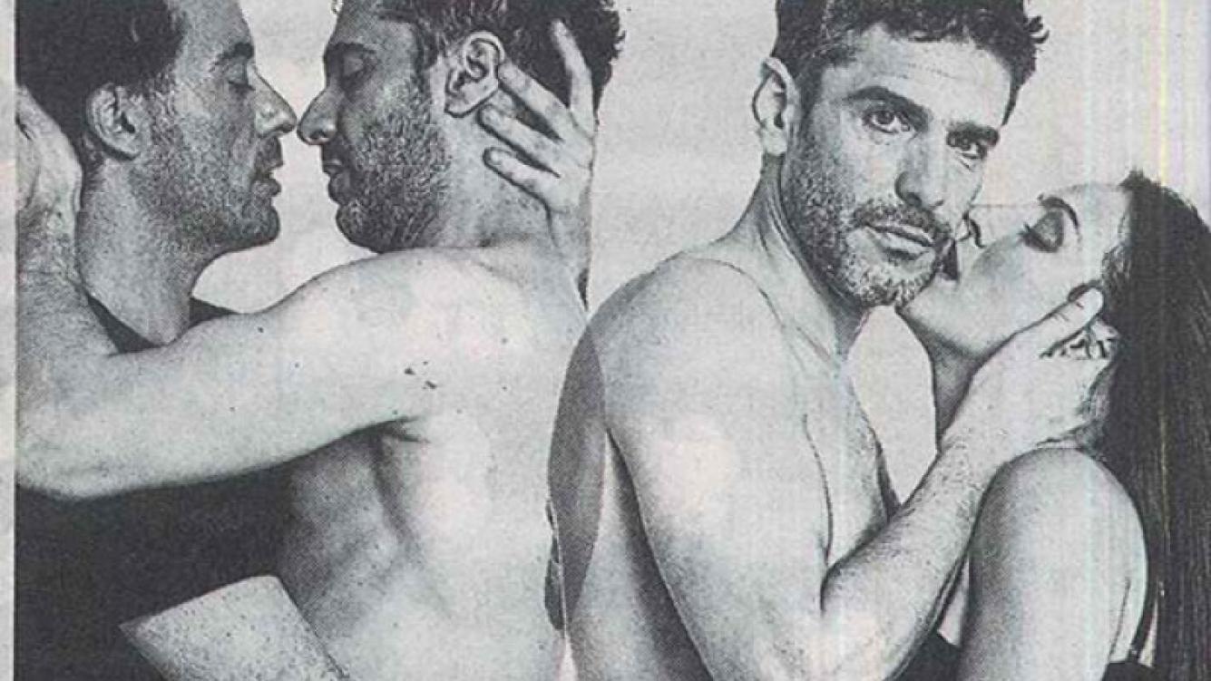 """Las """"jugadas"""" fotos hot de Leonardo Sbaraglia para Cock. (Foto: Clarín)"""