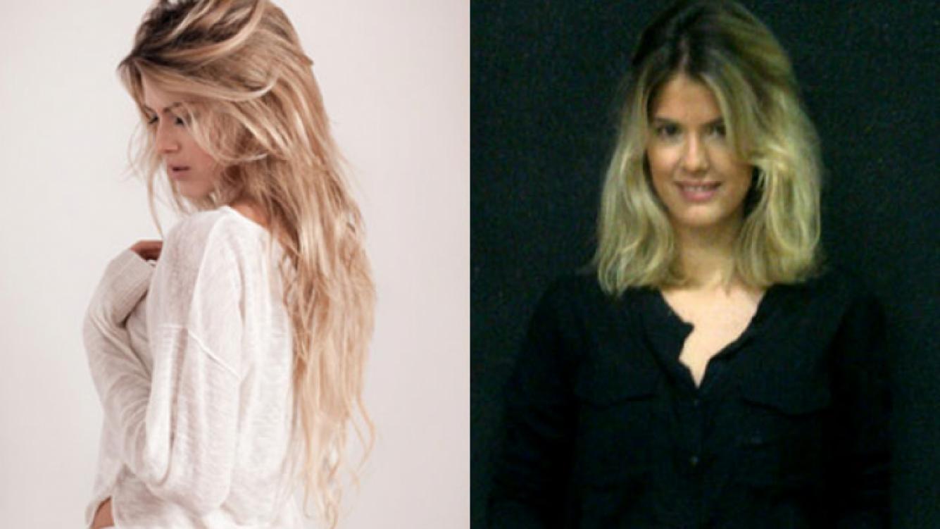 El antes y el después de María del Cerro, que se animó a cambiar su look (Foto: Web y Twitter).