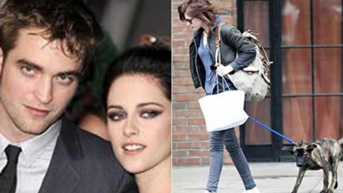 Kristen Stewart y Robert Pattinson ahora pelean por su perro. (Fotos: Web)