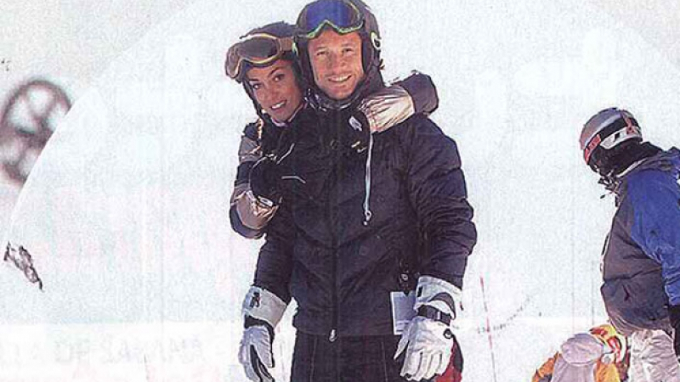 Diego Torres y Débora Bello, juntos y enamorados en la nieve (Foto: Paparazzi).
