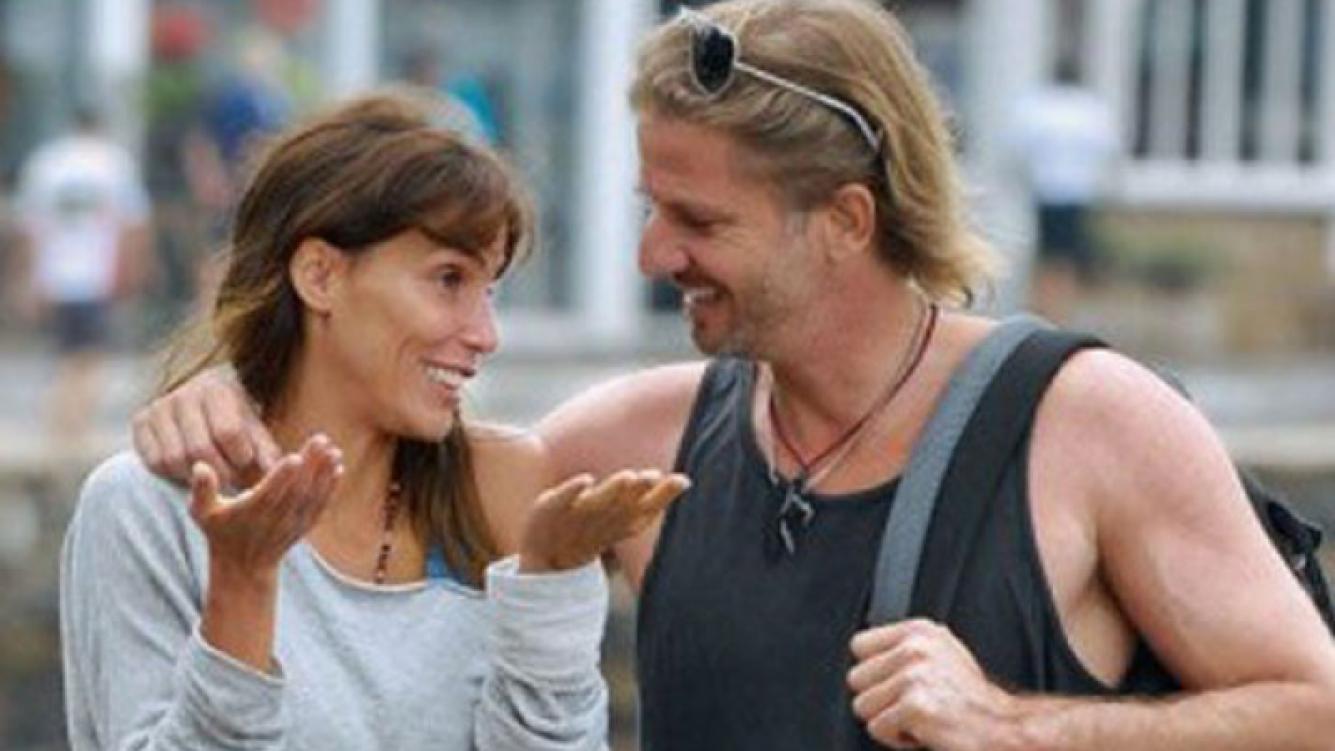 María Susini y Facundo Arana, juntos en una publicidad de lácteos (Foto: Caras).