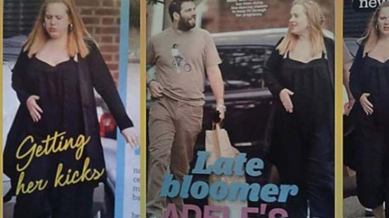 Las primeras fotos de Adele embarazada. (Foto: Web)