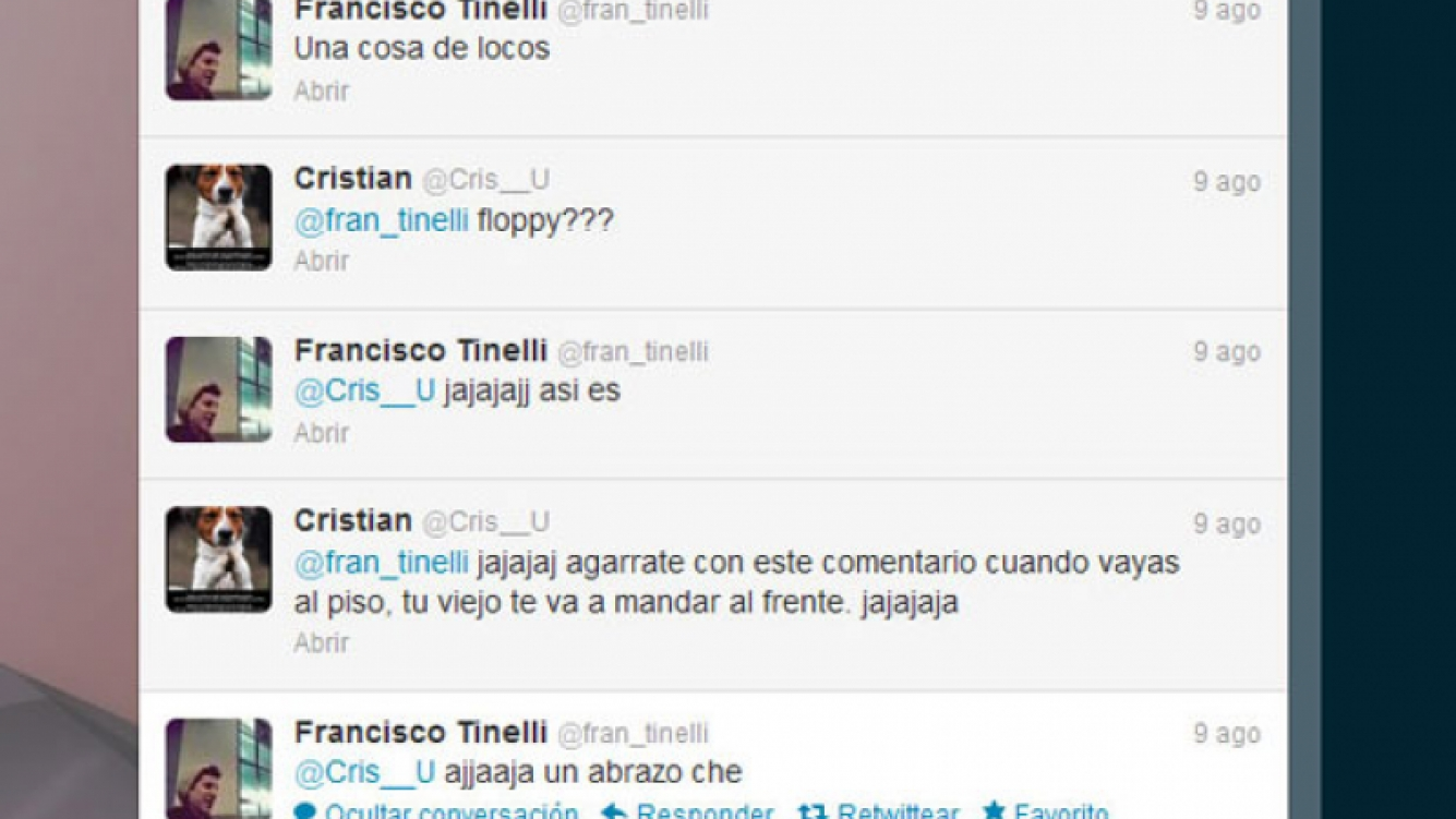 El intercambio de tweets entre Francisco y Cristian U. (Foto: Captura de Twitter).