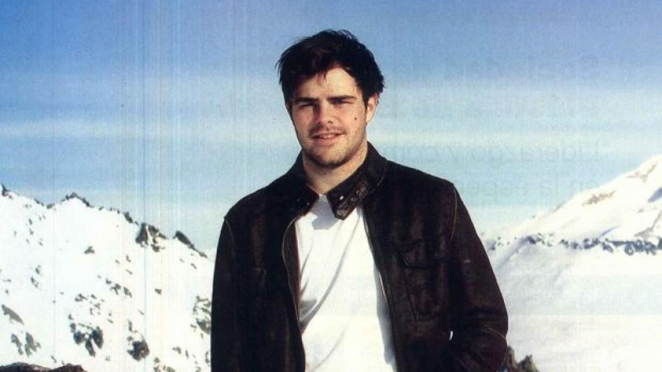 Peter Lanzani, en el cerro Catedral. (Foto: Revista Gente)