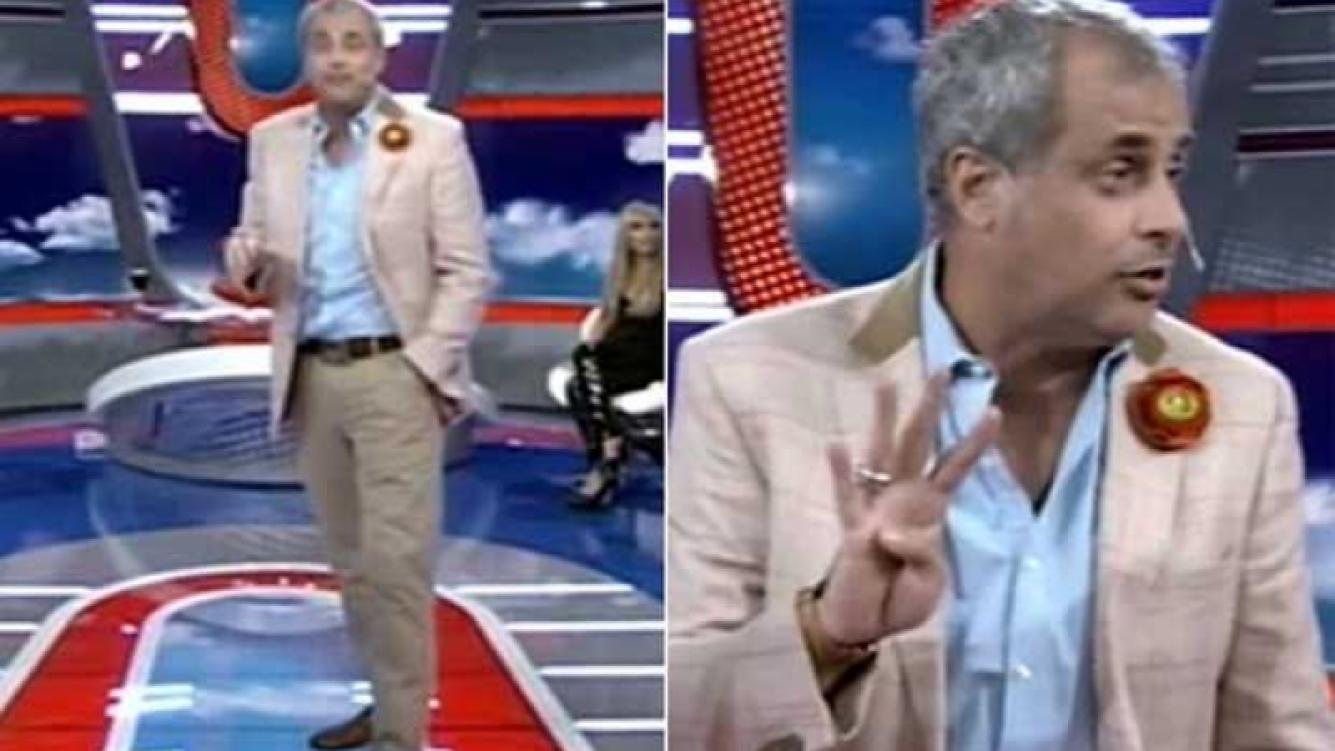 Jorge Rial y su look en Intrusos. (Fotos: captura TV)