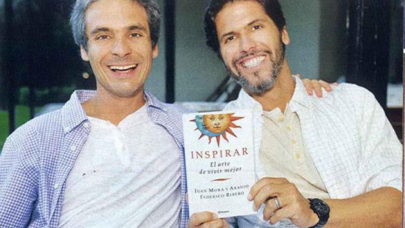 Federico Ribero escribió un libro junto a su instructor espiritual Juan Mora y Araujo (Foto: revista Gente)
