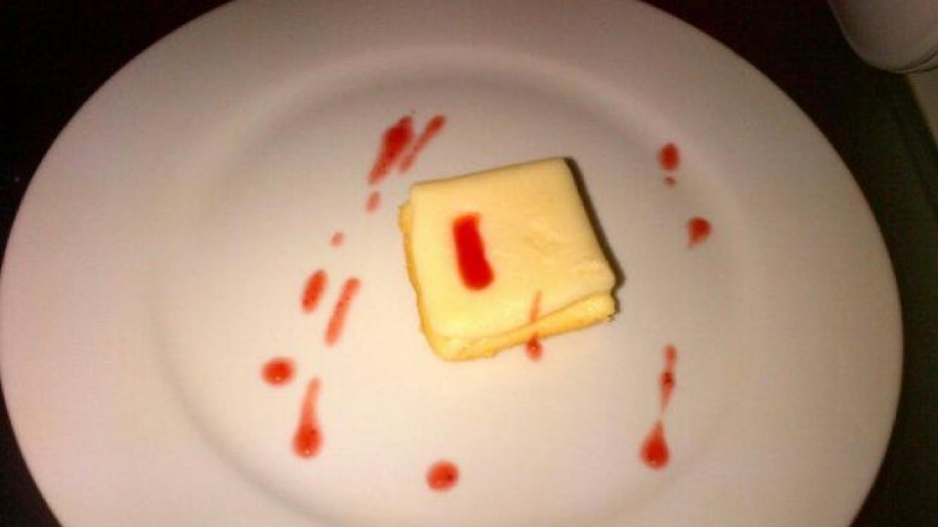 El mini cheesecake que Paula compartió con su mamá.