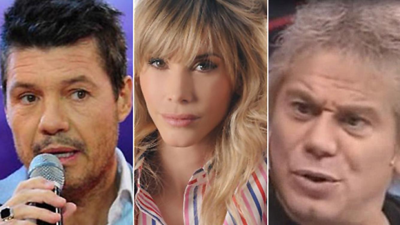 Marcelo Tinelli, Guillermina Valdés y Beto Casella, una polémica que crece. (Fotos: Web)