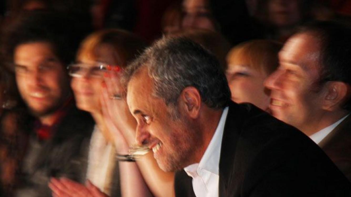 Jorge Rial, espectador de lujo en el BAAM (Foto: Prensa Veroutis).