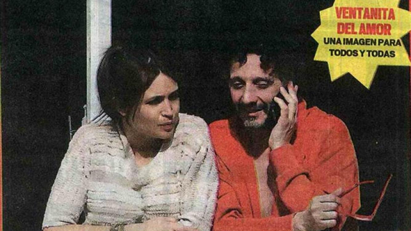 Fito Paéz y Julia Mengolini, juntos en el departamento del músico. (Foto: Muy)