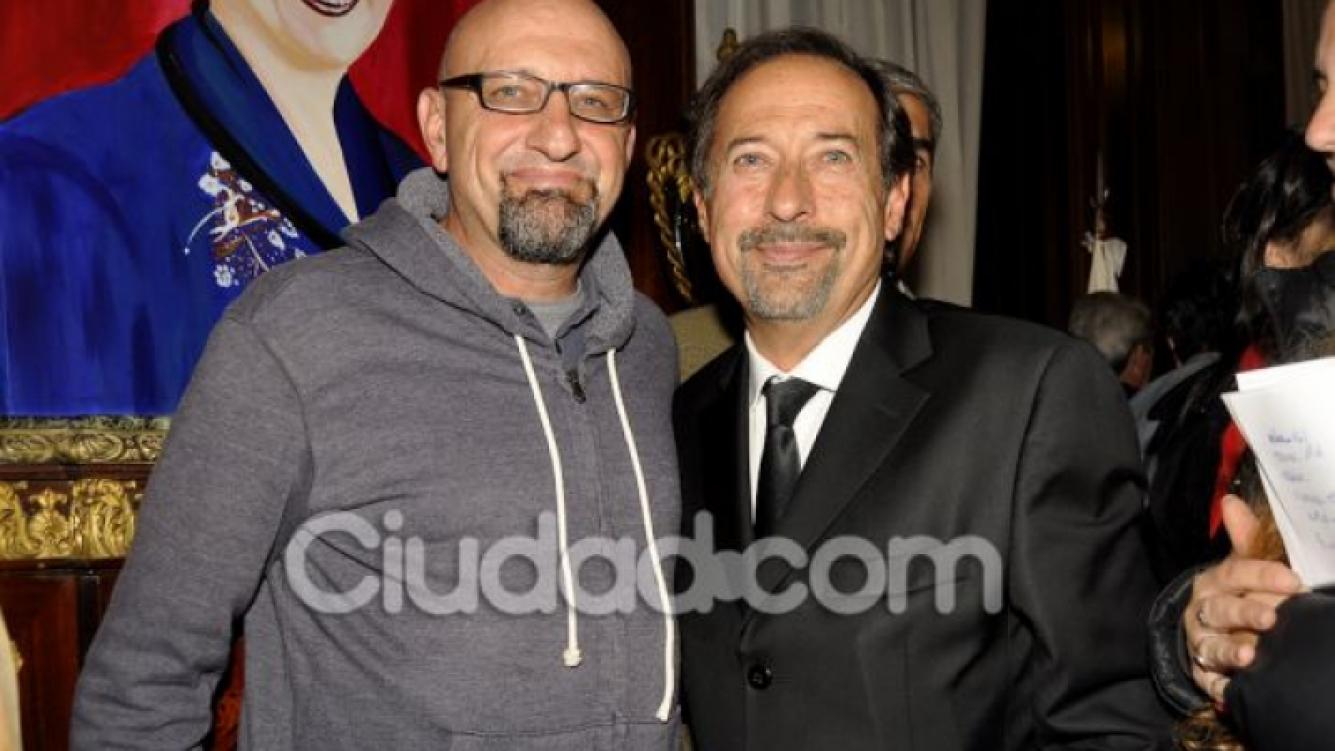 El Puma Goity y Guillermo Francella. (Foto: Jennifer Rubio - Ciudad.com)