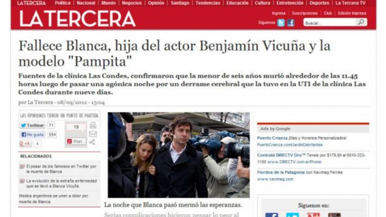 Diario La Tercera. (Foto: captura web)