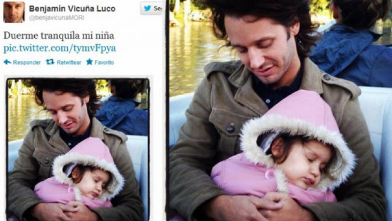 Benjamín Vicuña recordó a su hijita en Twitter: