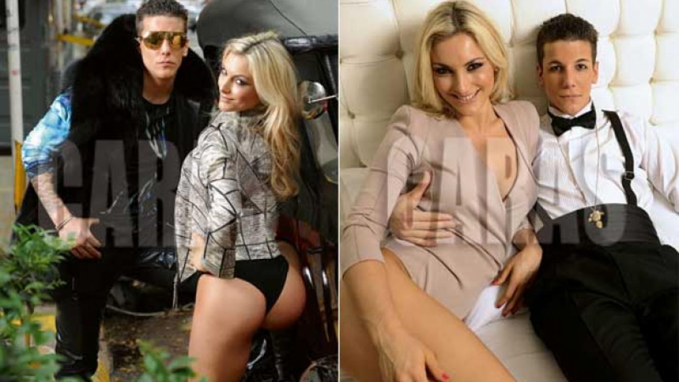 Axel Caniggia y Sofía Macaggi para la revista Caras.