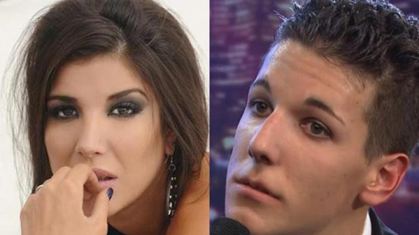 Andrea Rincón, indignada con Alexander Caniggia. Foto: (Web)