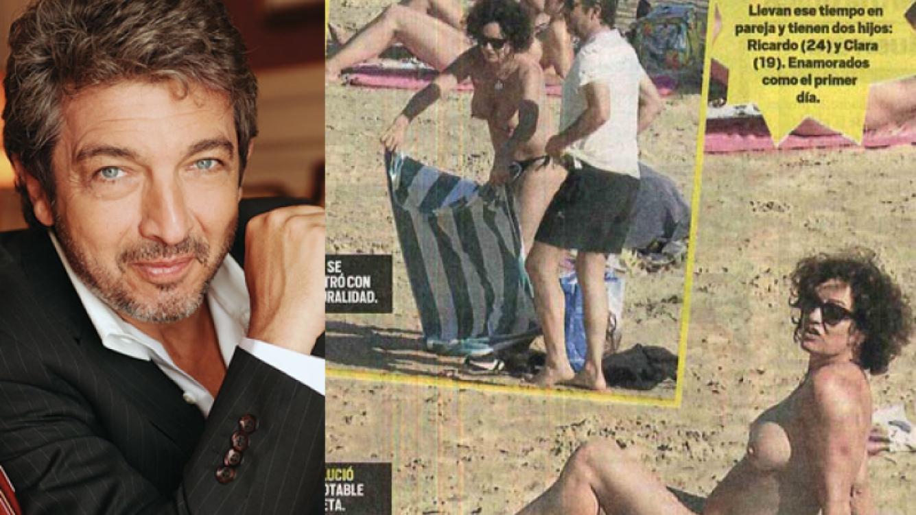 """Ricardo Darín, sobre el topless de su mujer: """"A Flor la vi divina"""". (Foto: Muy)"""