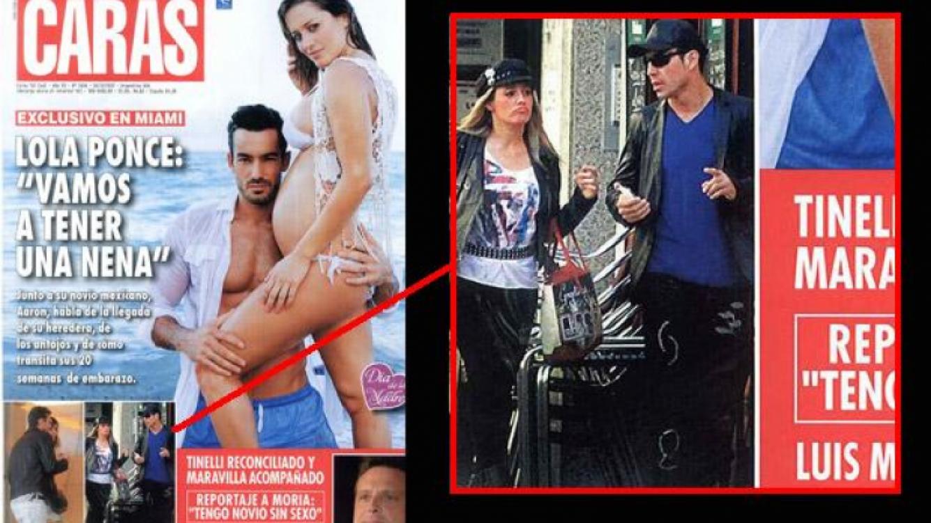 Maravilla Martínez con su nueva compañía, en la tapa de la revista Caras.
