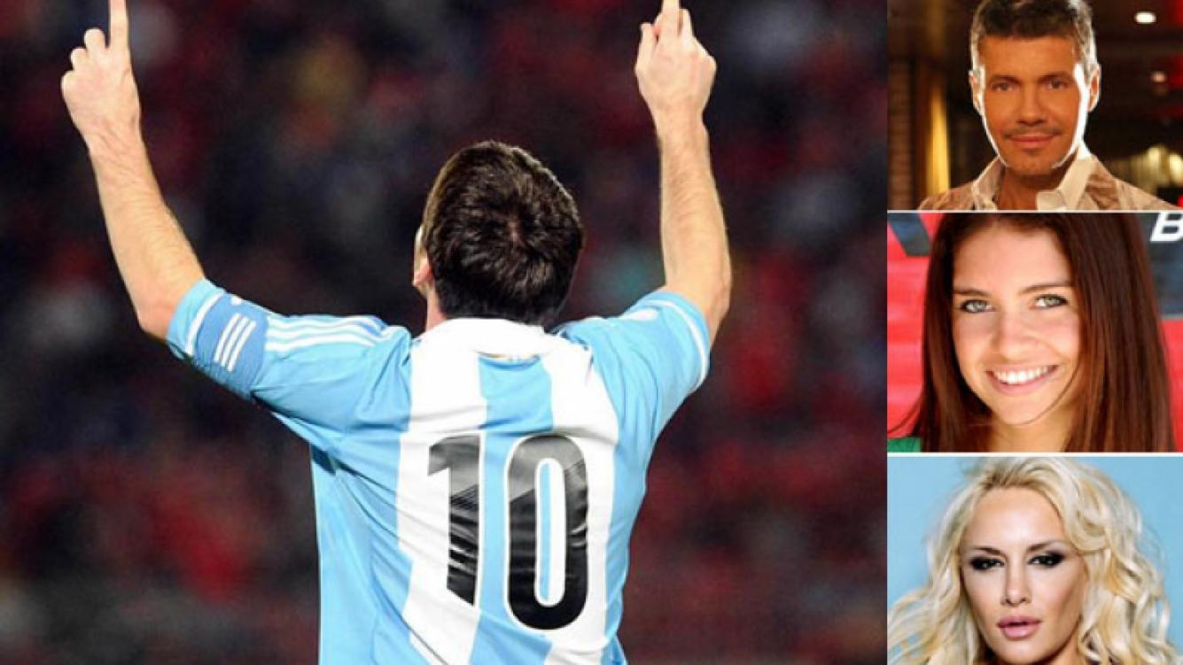 Los famosos festejaron el gol de Messi en Twitter. (Fotos: Web)