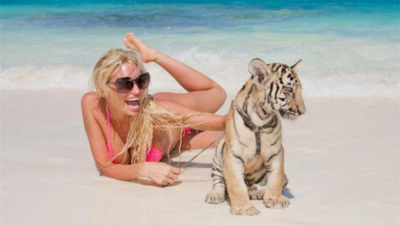 Victoria Xipolitakis, de vacaciones en Cancún (Foto: álbum personal de Xipolitakis)