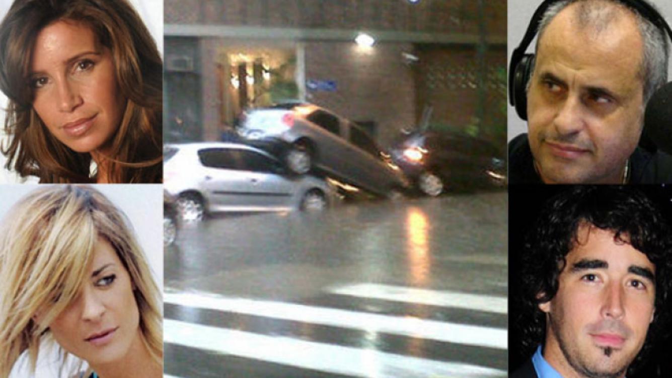 Los famosos también padecieron el temporal (Foto: Web).