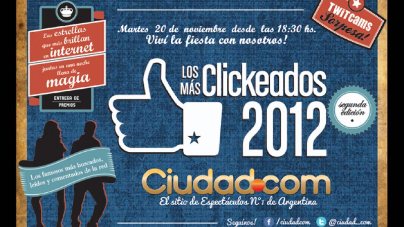 El martes a las 18.30 horas, Ciudad.com entrega los premios a Los Más Clickeados 2012.