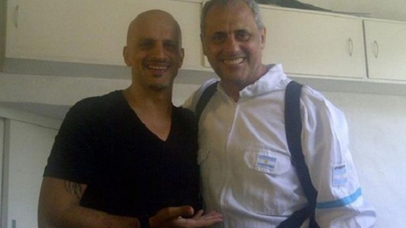 Jorge Rial, de astronauta, junto a Guillermo Marín. (Foto: Twitter)