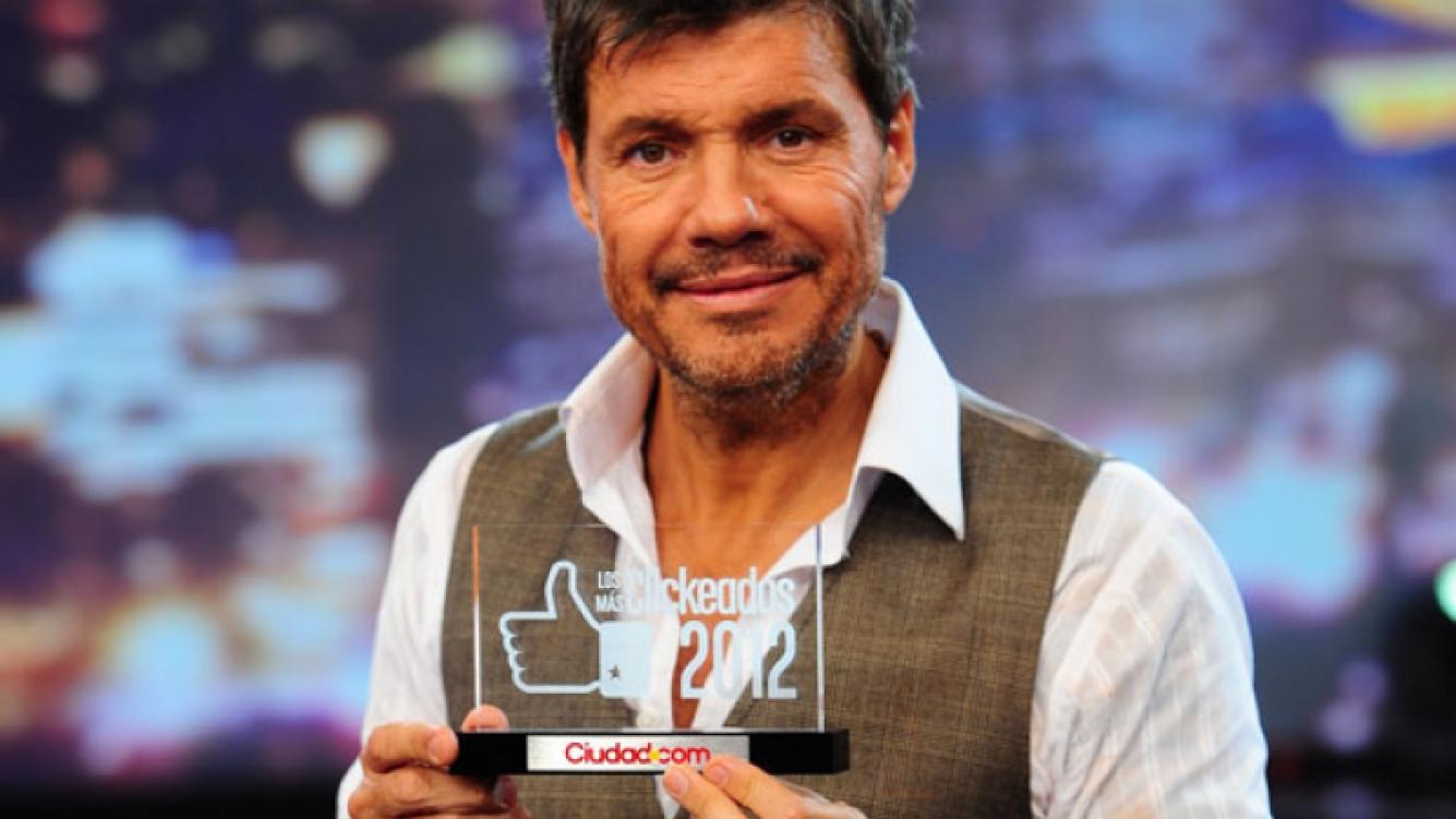 Marcelo Tinelli recibió el premio al personaje más clickeado de 2012. (Foto: gentileza Ideas del Sur)