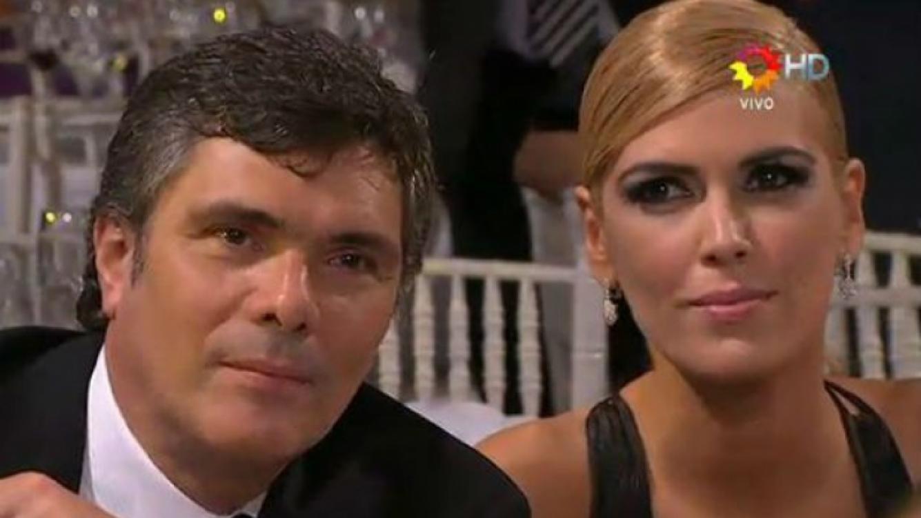 Alejandro Borensztein y Viviana Canosa en los premios Tato. (Foto: captura El Trece HD)