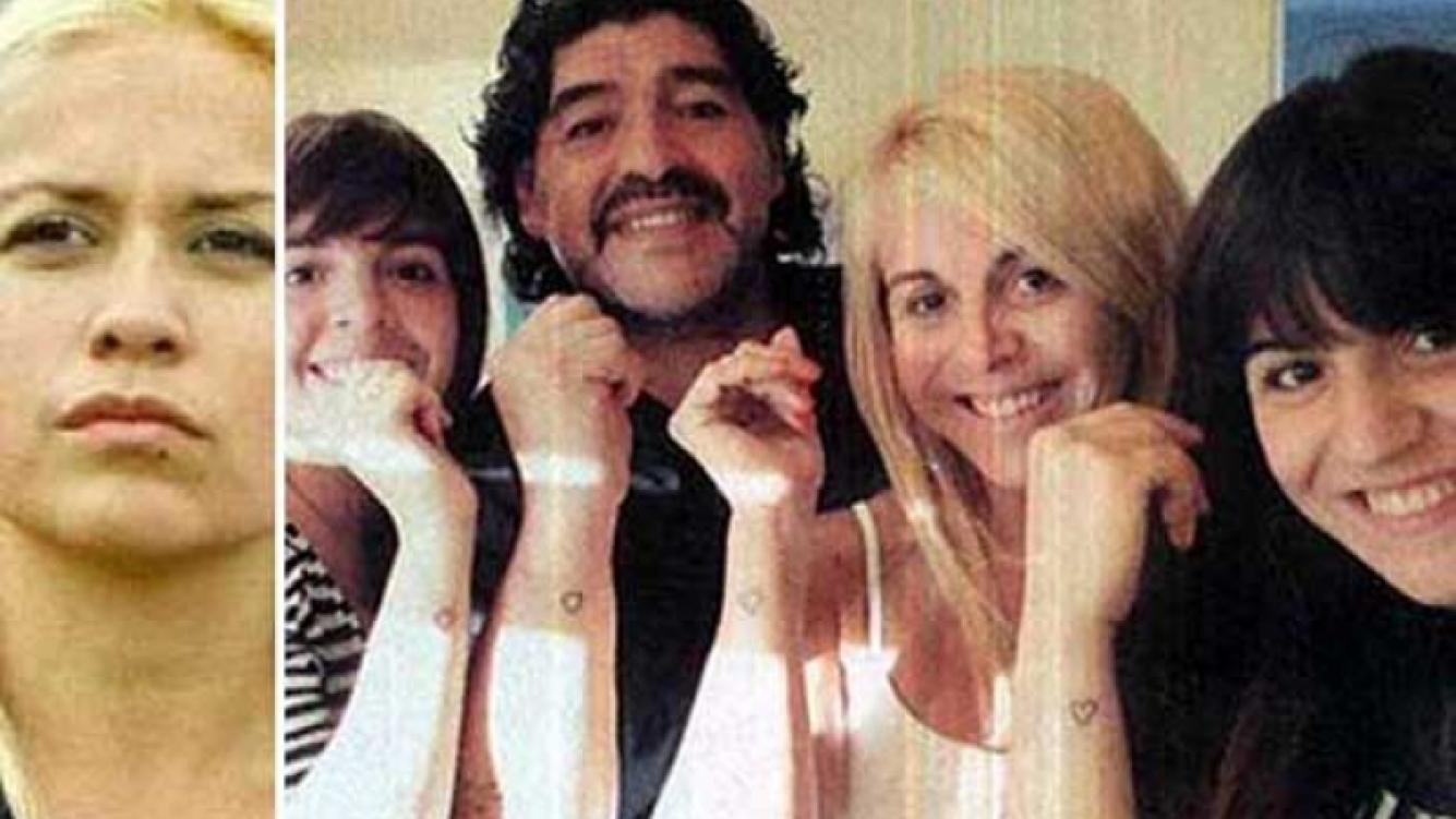 Verónica Ojeda y Diego Maradona, separados. (Fotos: Web y archivo)