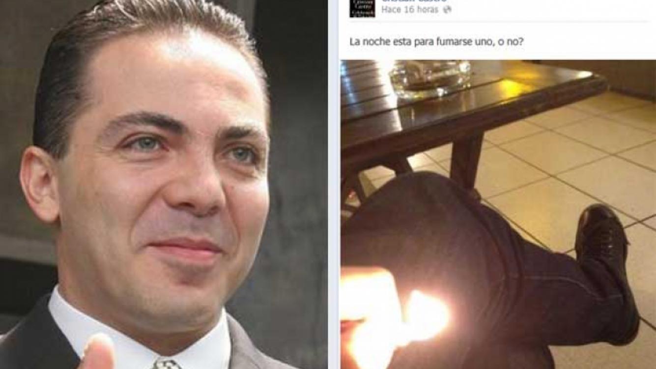 Cristian Castro y la polémica foto que subió a Facebook. (Fotos: Web y Facebook.com/cristiancastromusic)