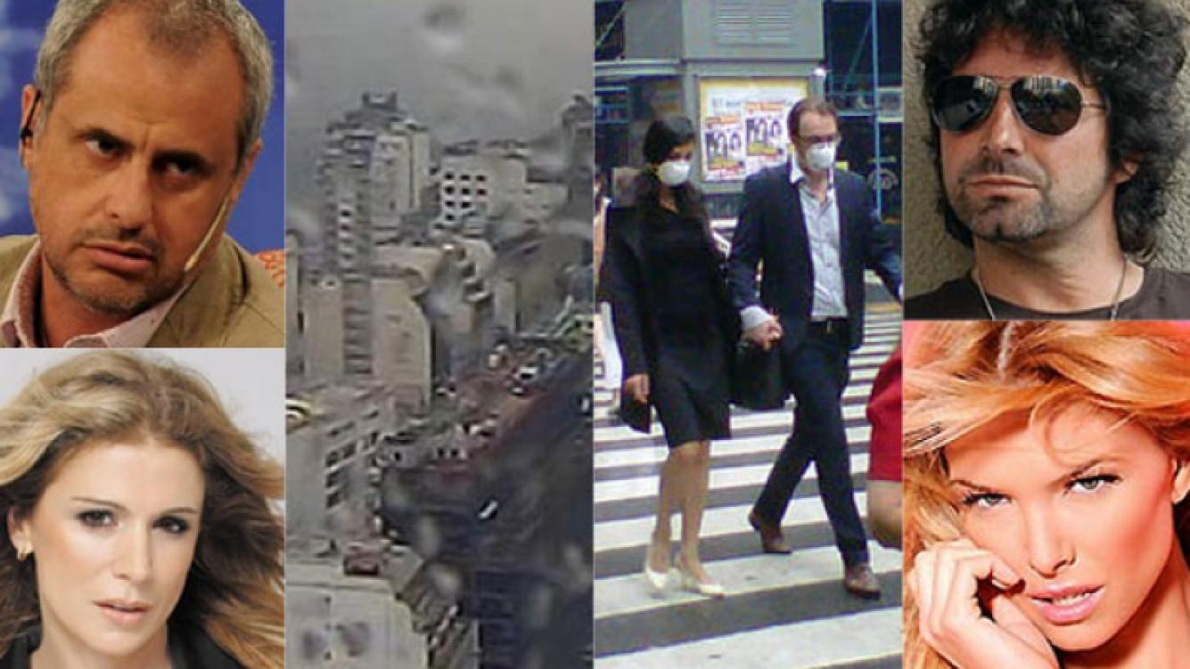 Los famosos se hicieron eco del fuerte olor en Capital (Fotos: Web y Twitter).