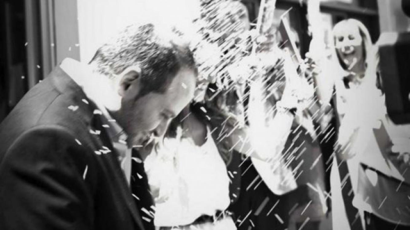 Alan Sabbagh y su esposa Agustina. (Foto: revista Caras-álbum personal de los novios)